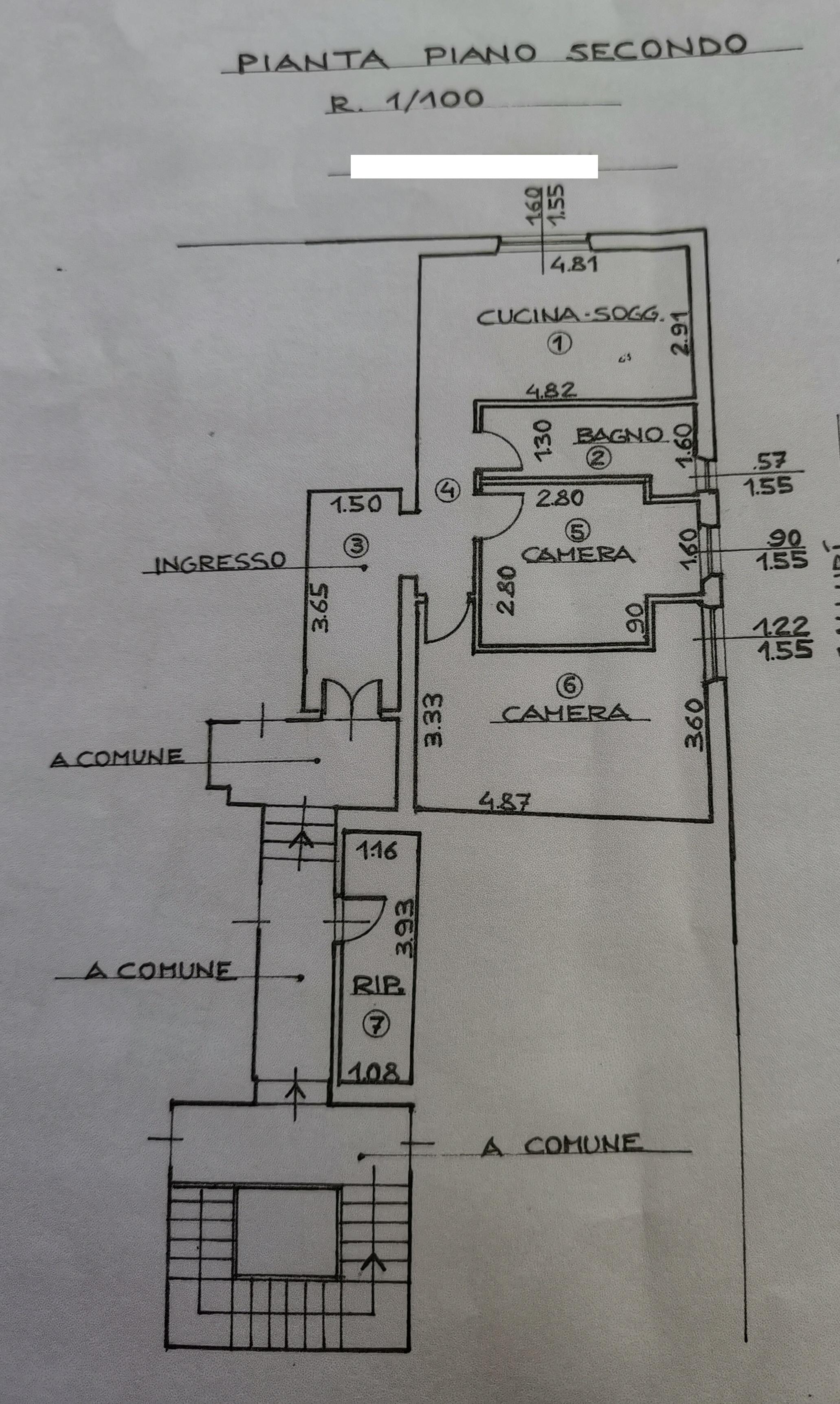 Appartamento in vendita, rif. 682 (Planimetria 1/1)