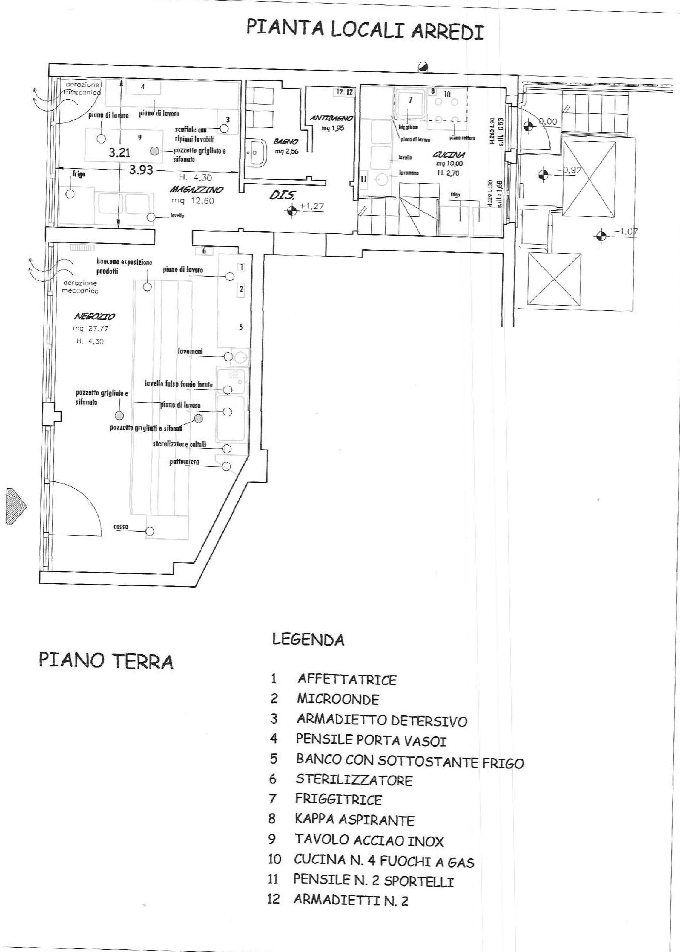 Locale comm.le/Fondo in affitto commerciale, rif. 688 (Planimetria 1/1)