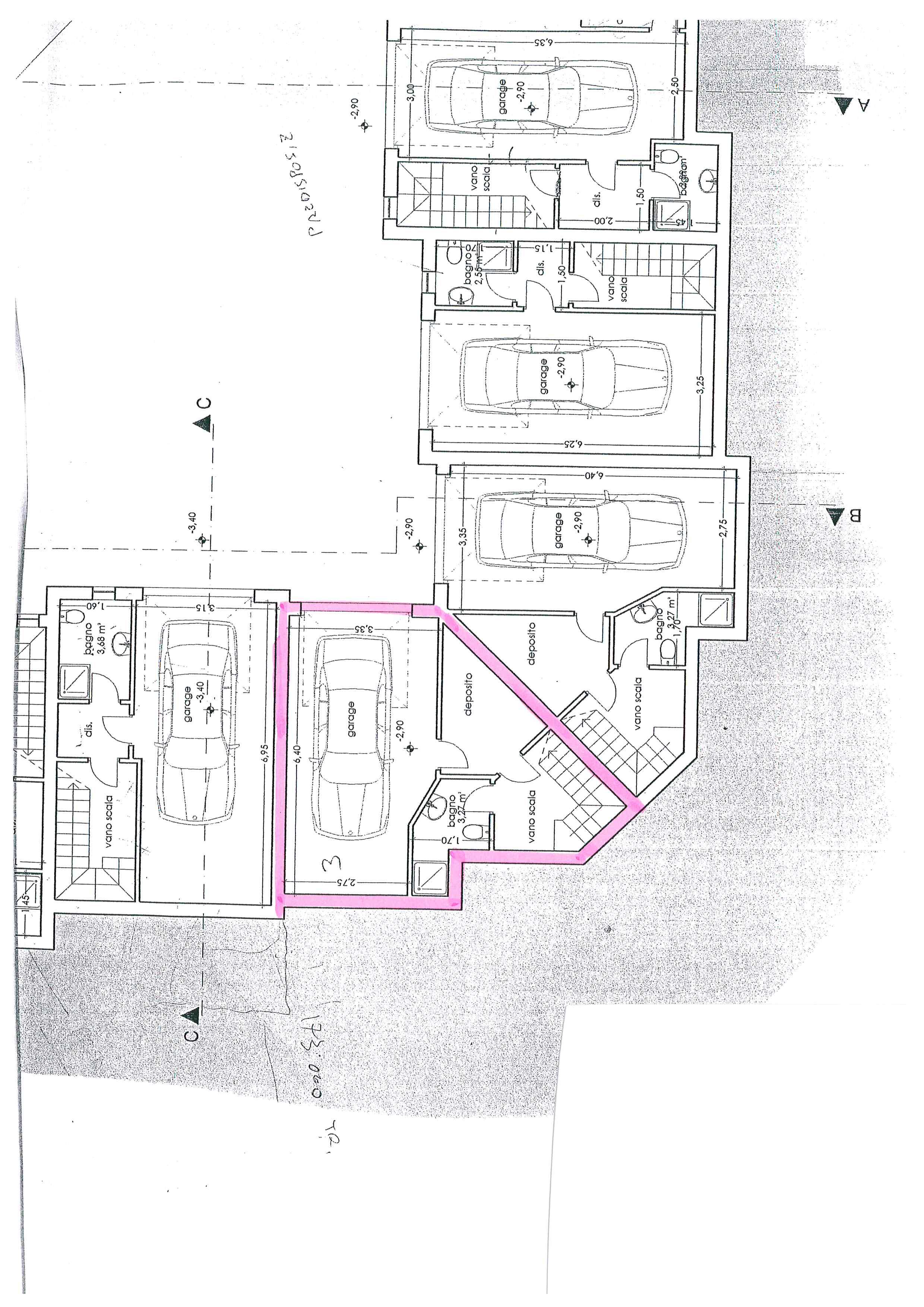 Planimetria 1/3 per rif. 764