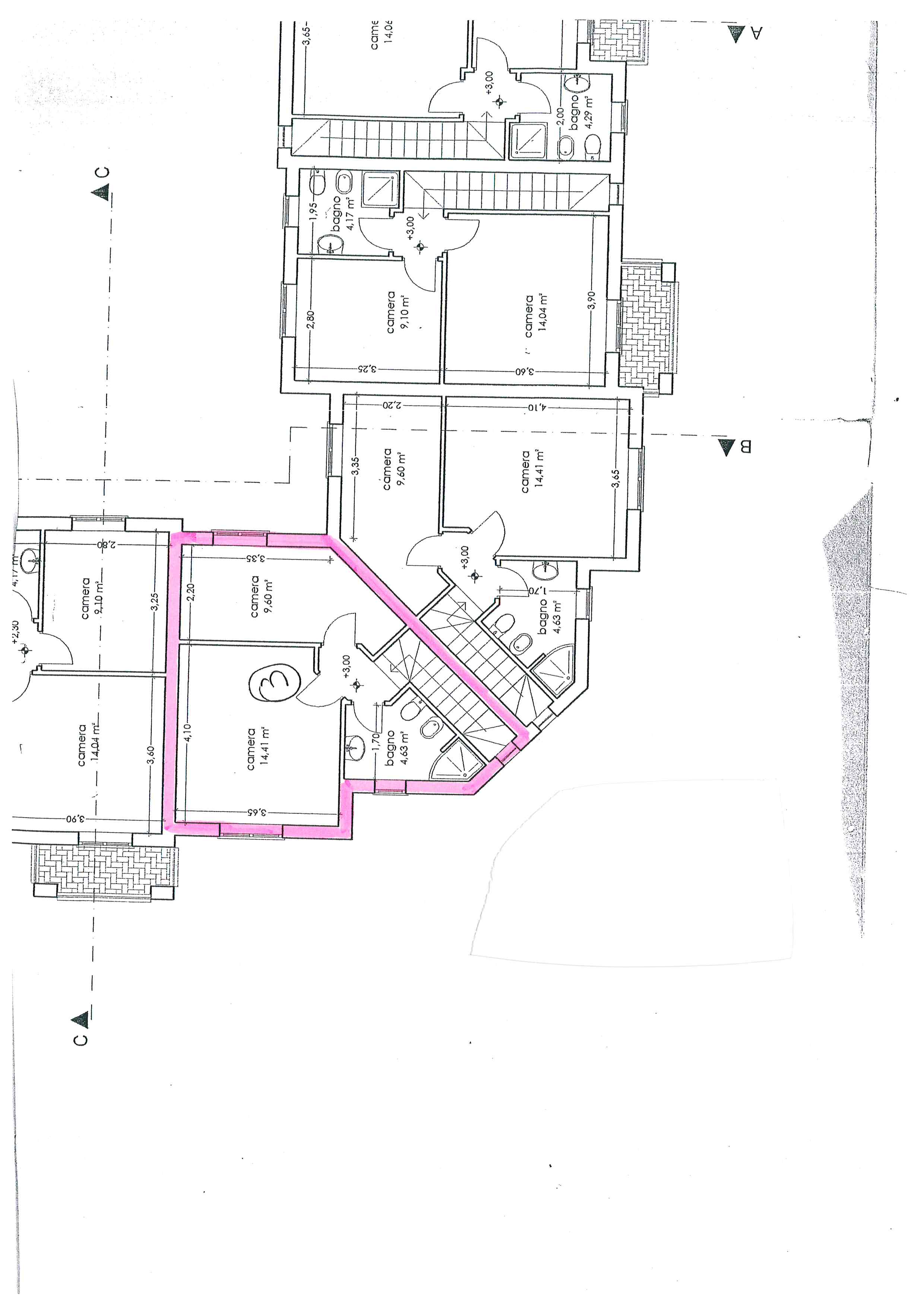 Planimetria 2/3 per rif. 764