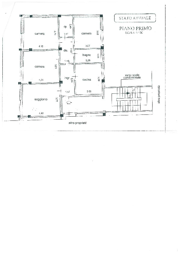 Planimetria /1 per rif. 1097