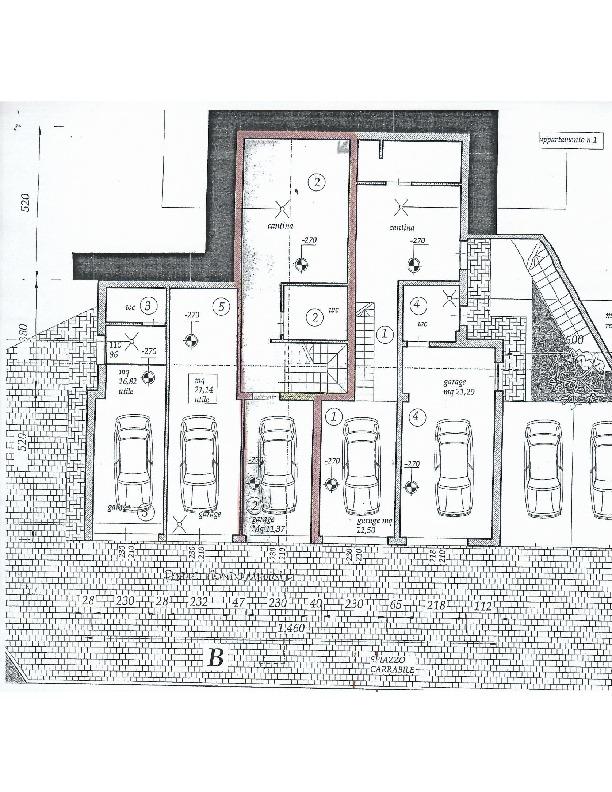 Planimetria 1/3 per rif. 1372