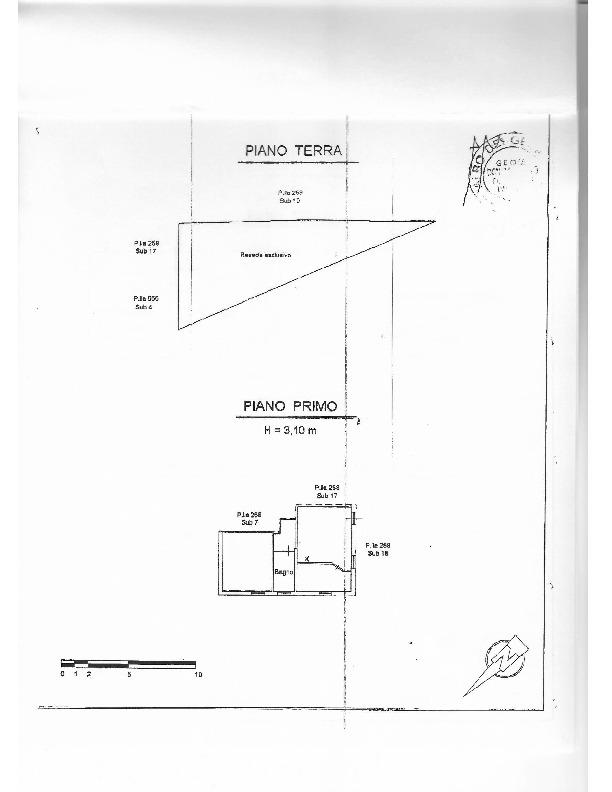 Planimetria 1/1 per rif. 1598