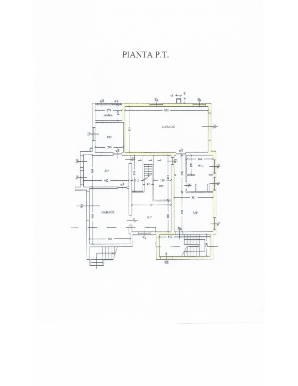 Planimetria 1/1 per rif. 1599