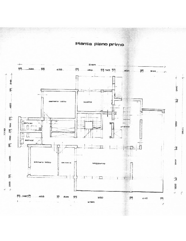 Planimetria 2/3 per rif. 1607