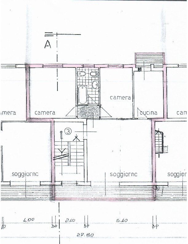 Planimetria 1/3 per rif. 1624