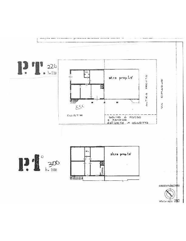 Planimetria 1/1 per rif. 1625