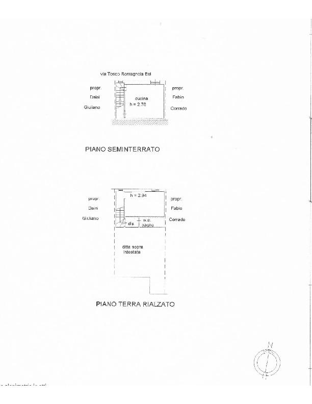 Planimetria 1/1 per rif. 1631