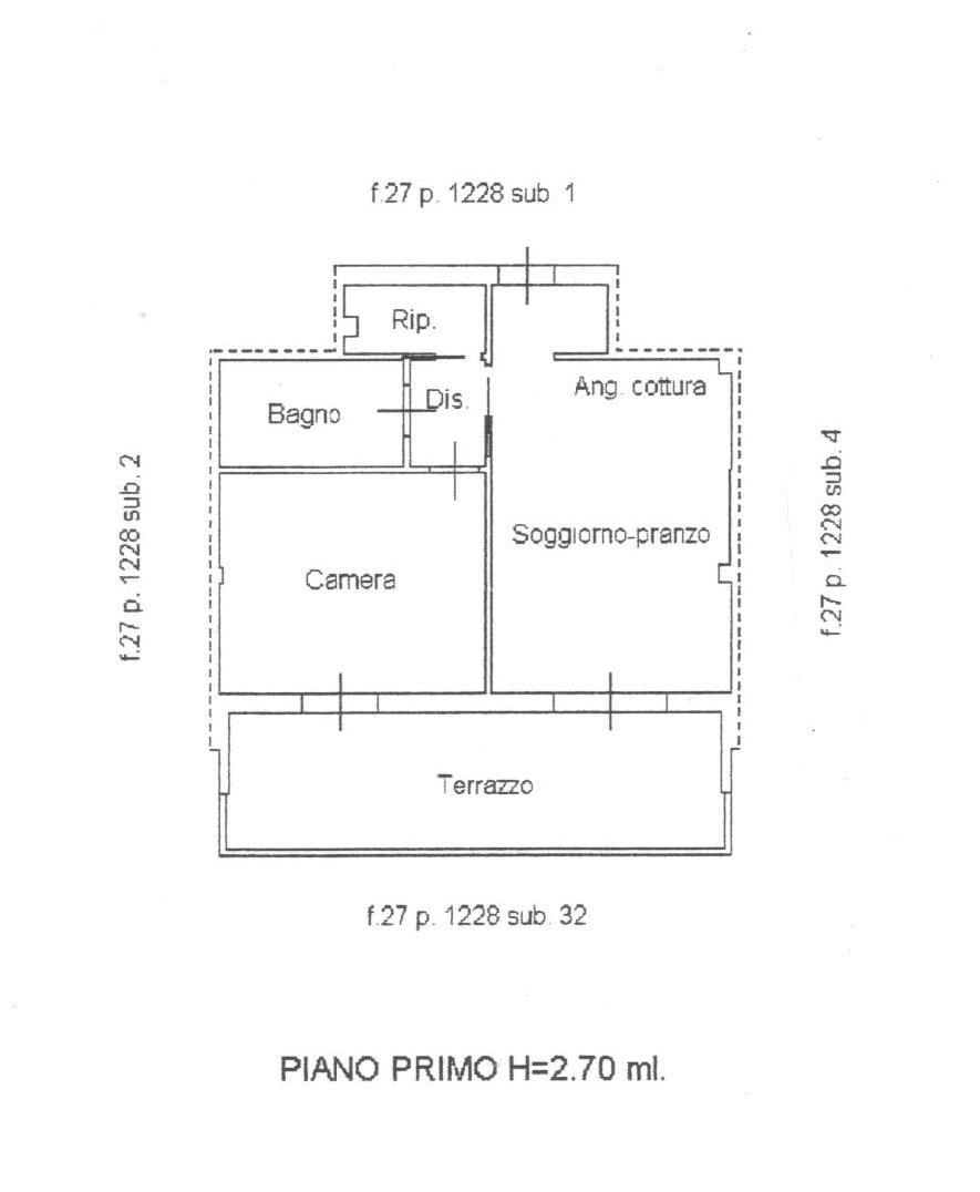 Planimetria 1/1 per rif. 1650