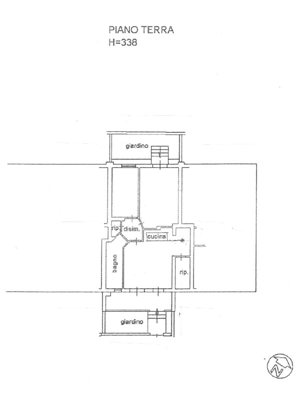 Planimetria 1/2 per rif. 1656
