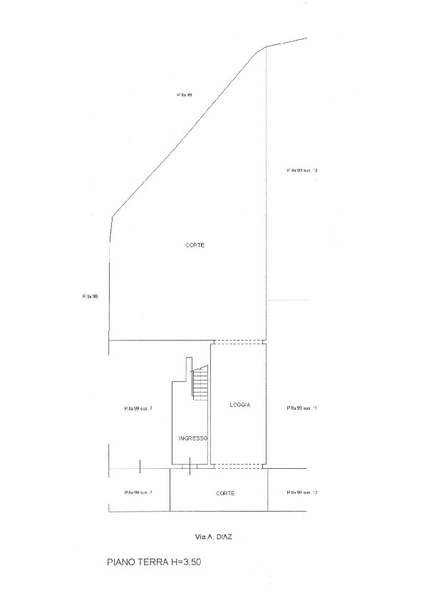 Planimetria 1/4 per rif. 1658