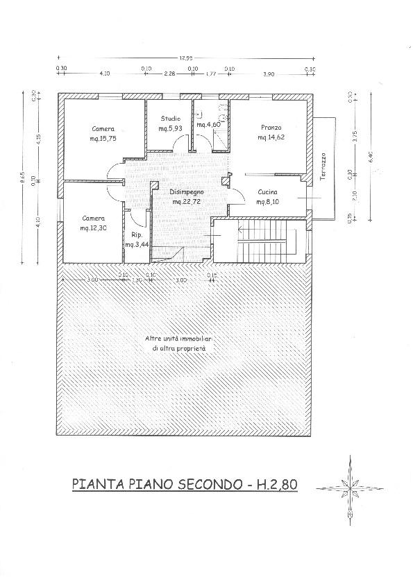Planimetria 1/2 per rif. 1666