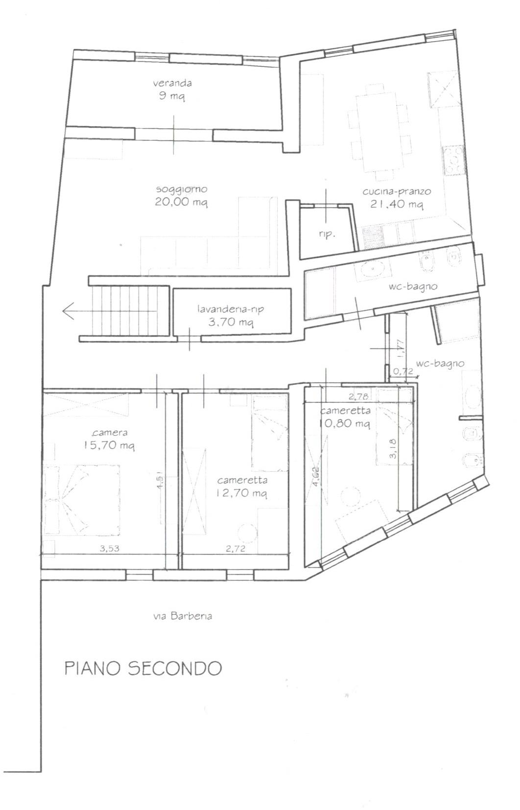 Planimetria 1/2 per rif. 1683
