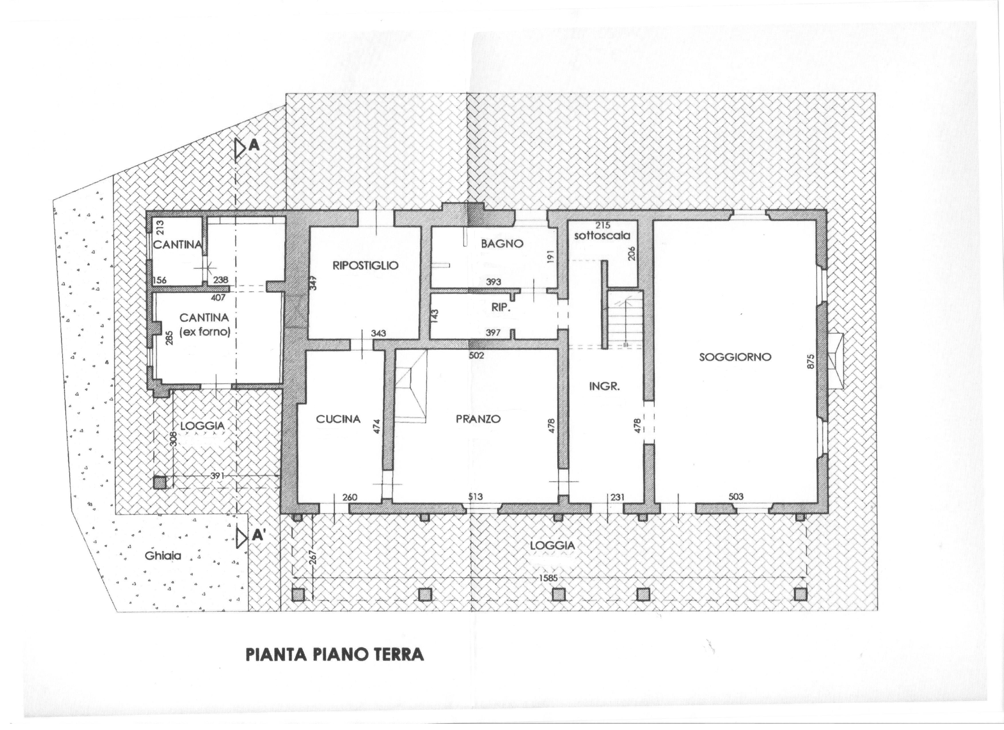 Planimetria 1/3 per rif. 1694