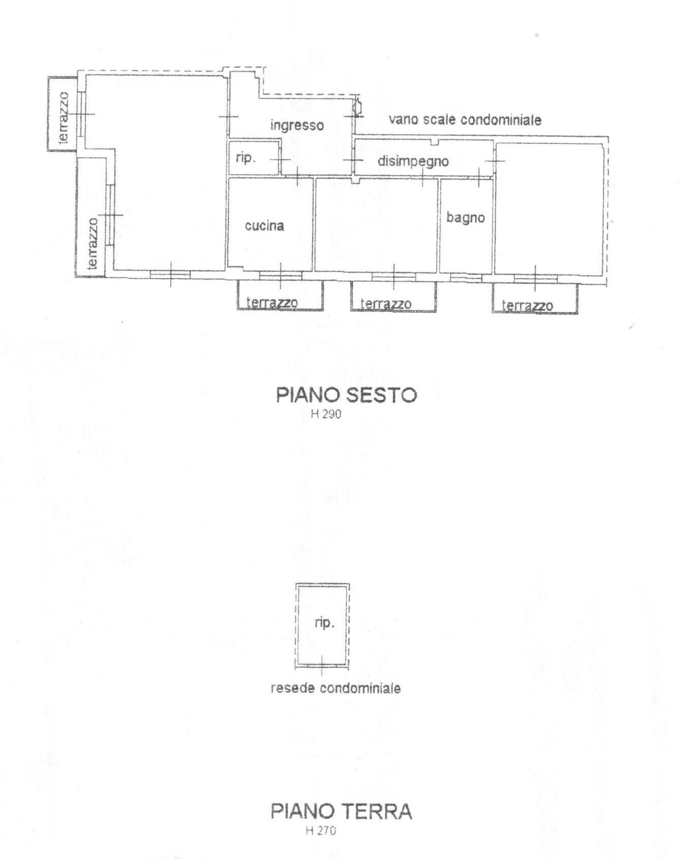 Planimetria 1/1 per rif. 1700