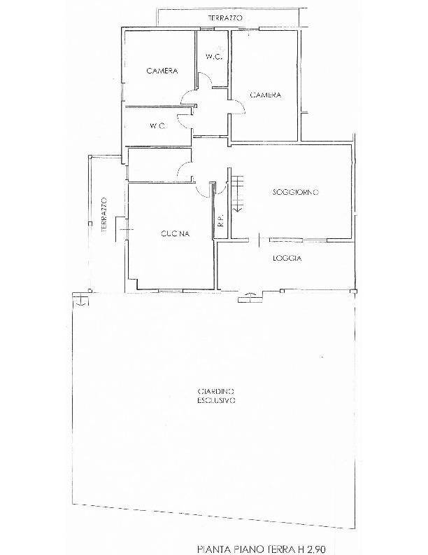 Planimetria 1/2 per rif. 1702