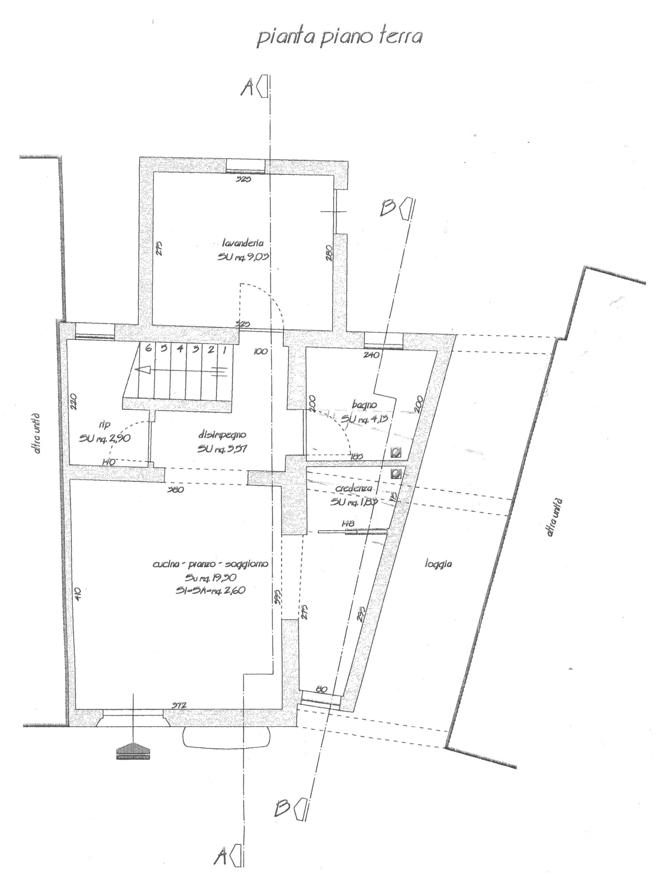 Planimetria 1/6 per rif. 1703