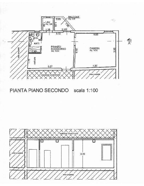 Planimetria 1/1 per rif. 1704