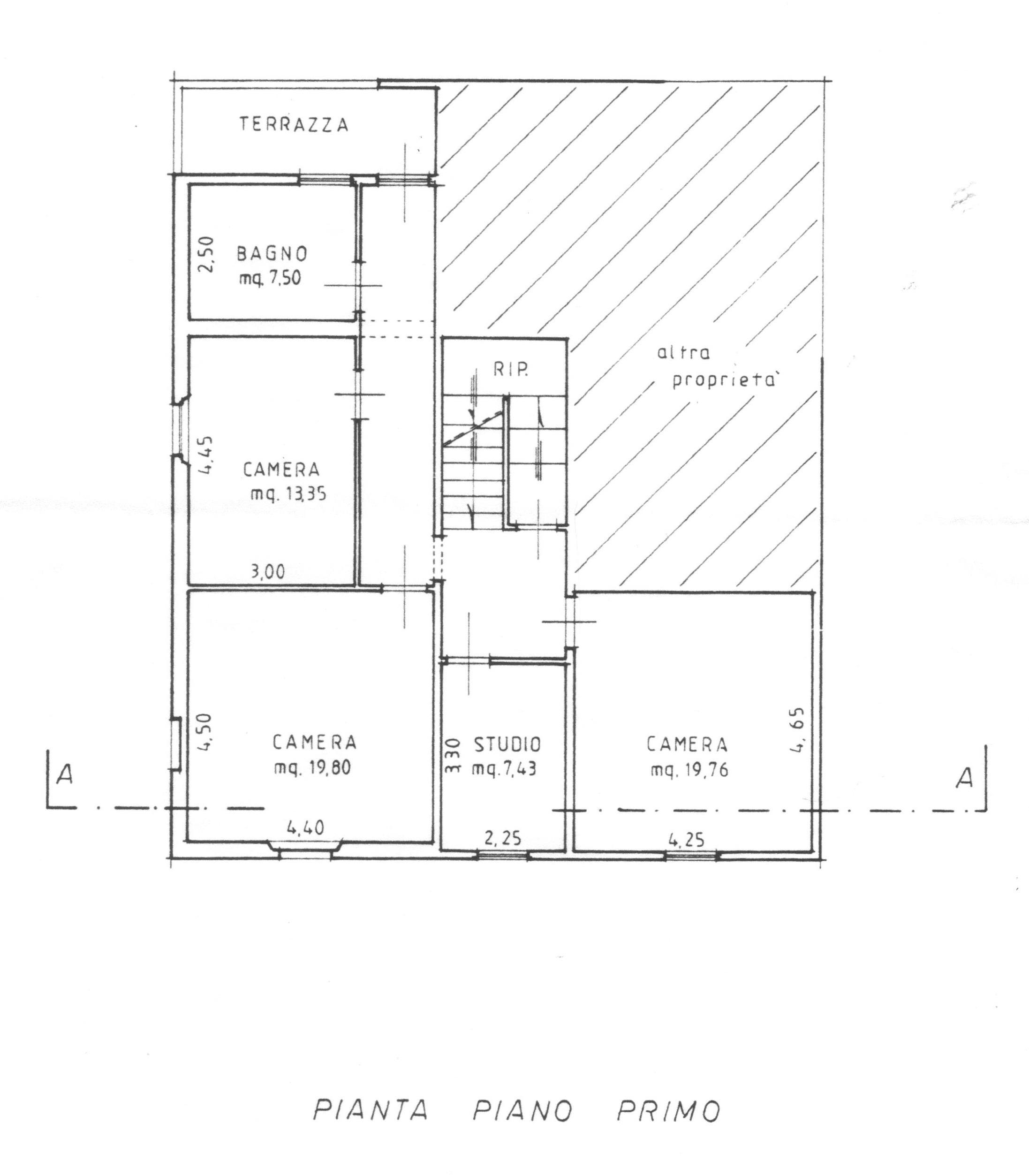 Planimetria 2/2 per rif. 1725