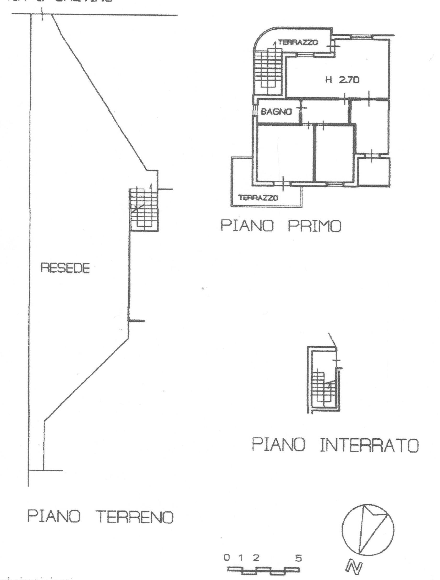 Planimetria 1/2 per rif. 1740