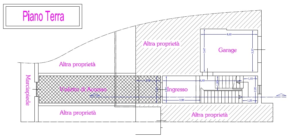 Planimetria 1/4 per rif. 1744