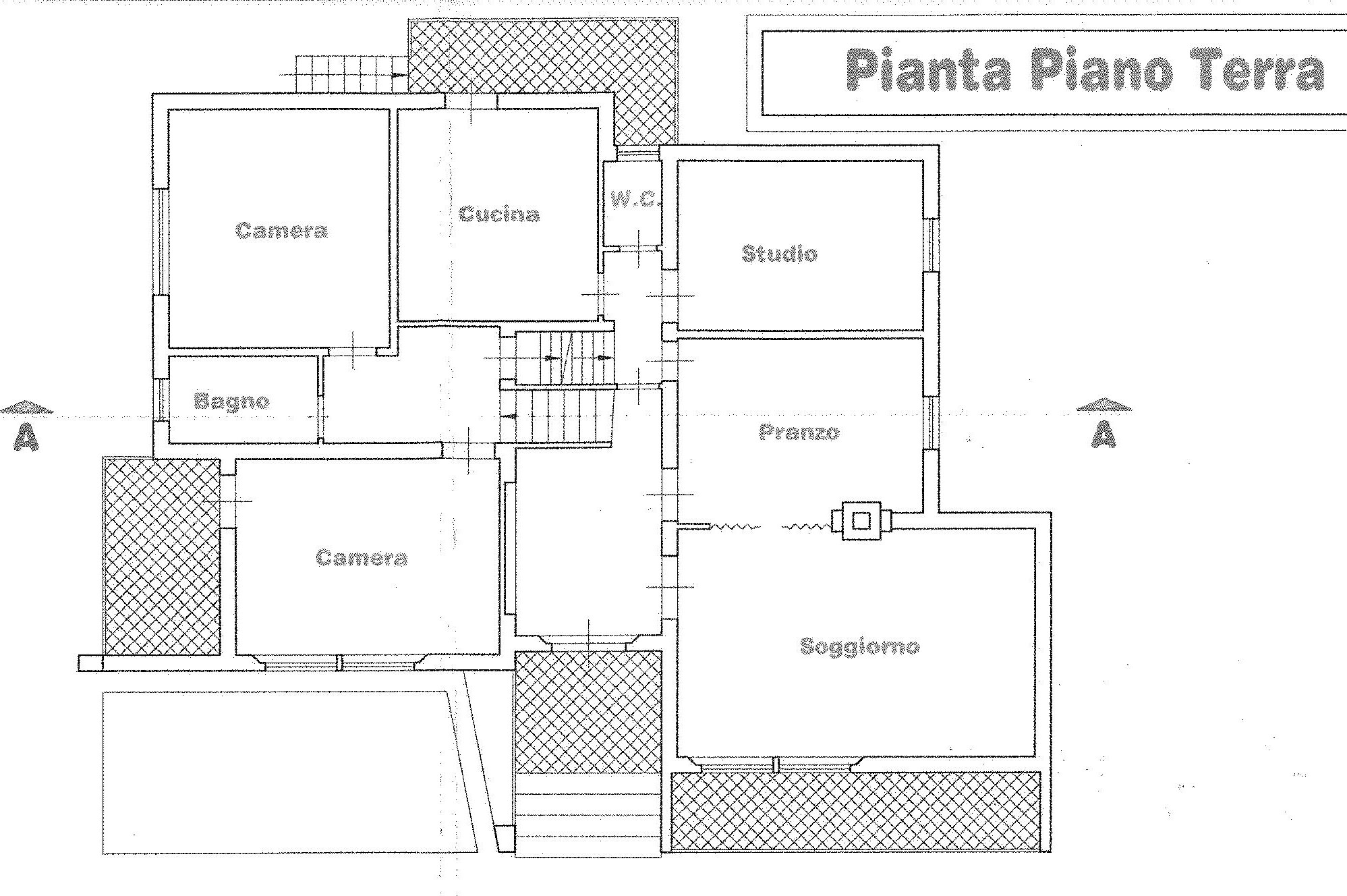 Planimetria 1/2 per rif. 1747
