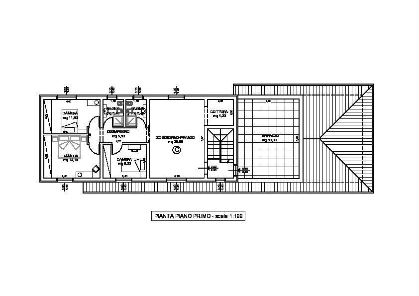 Planimetria 2/3 per rif. 1755