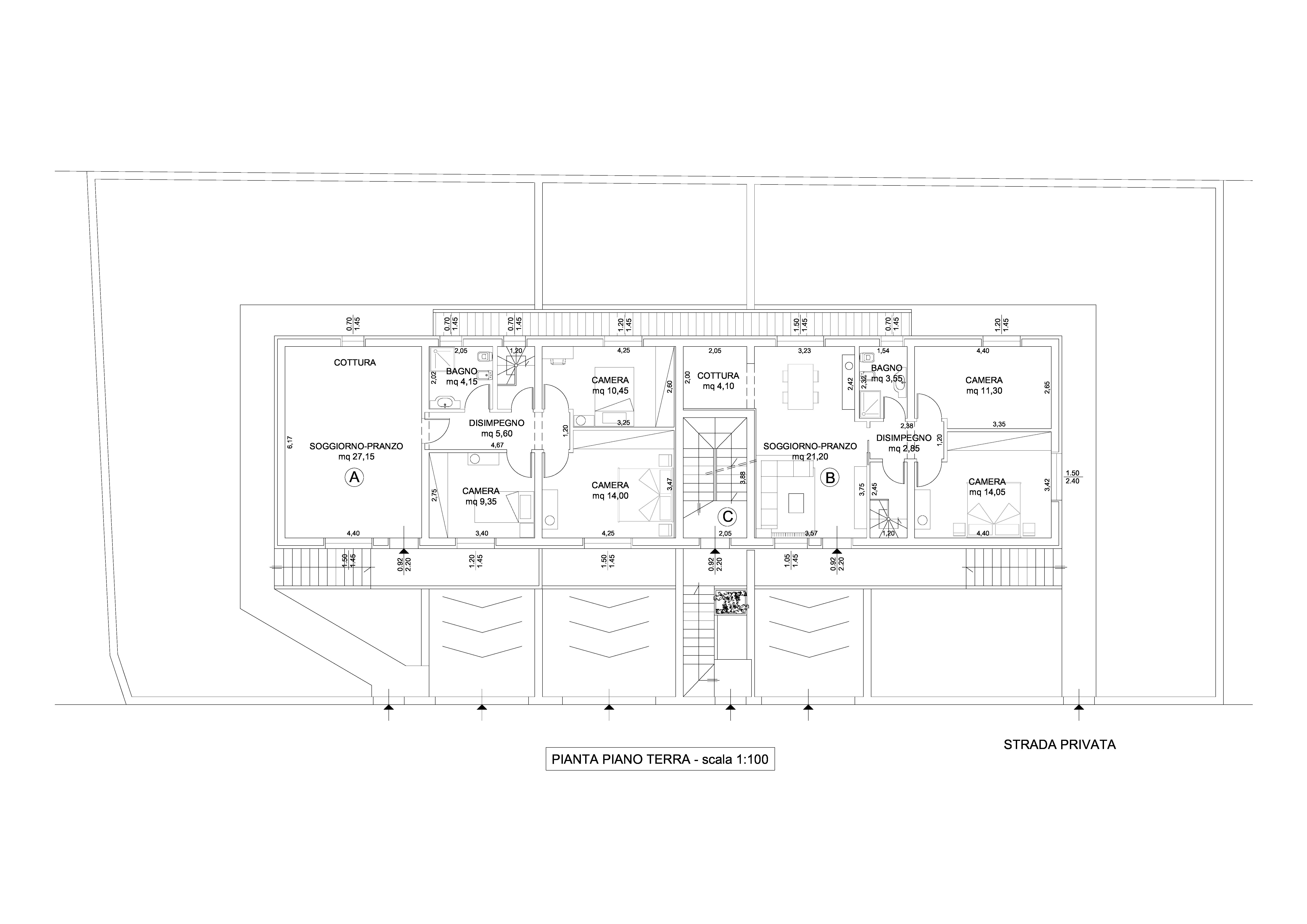 Planimetria 1/3 per rif. 1755