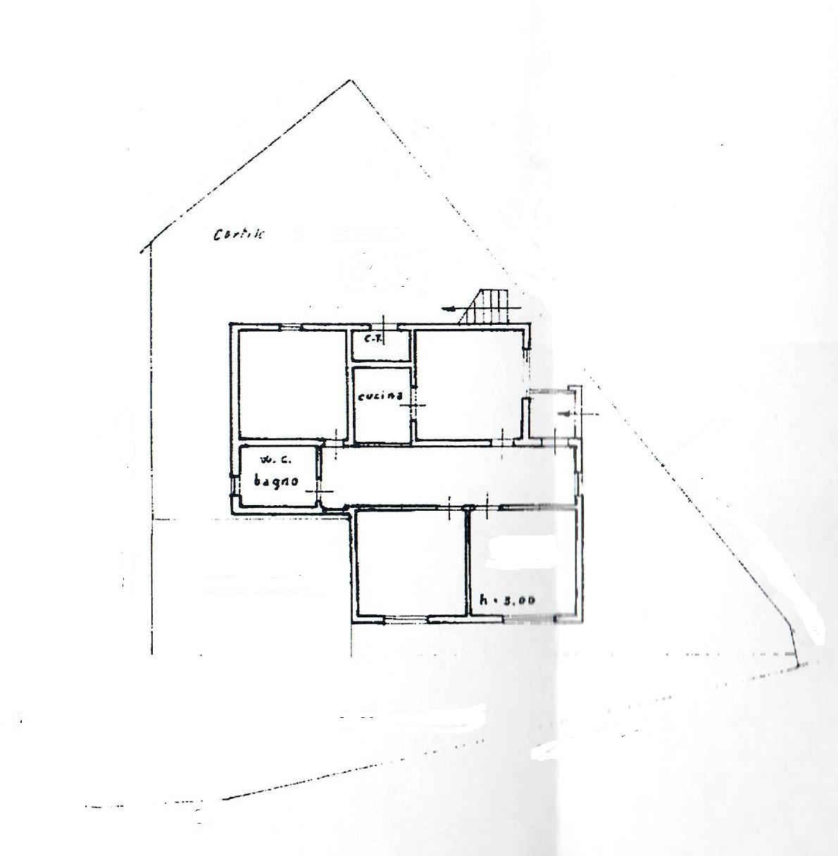 Planimetria 1/3 per rif. 1783