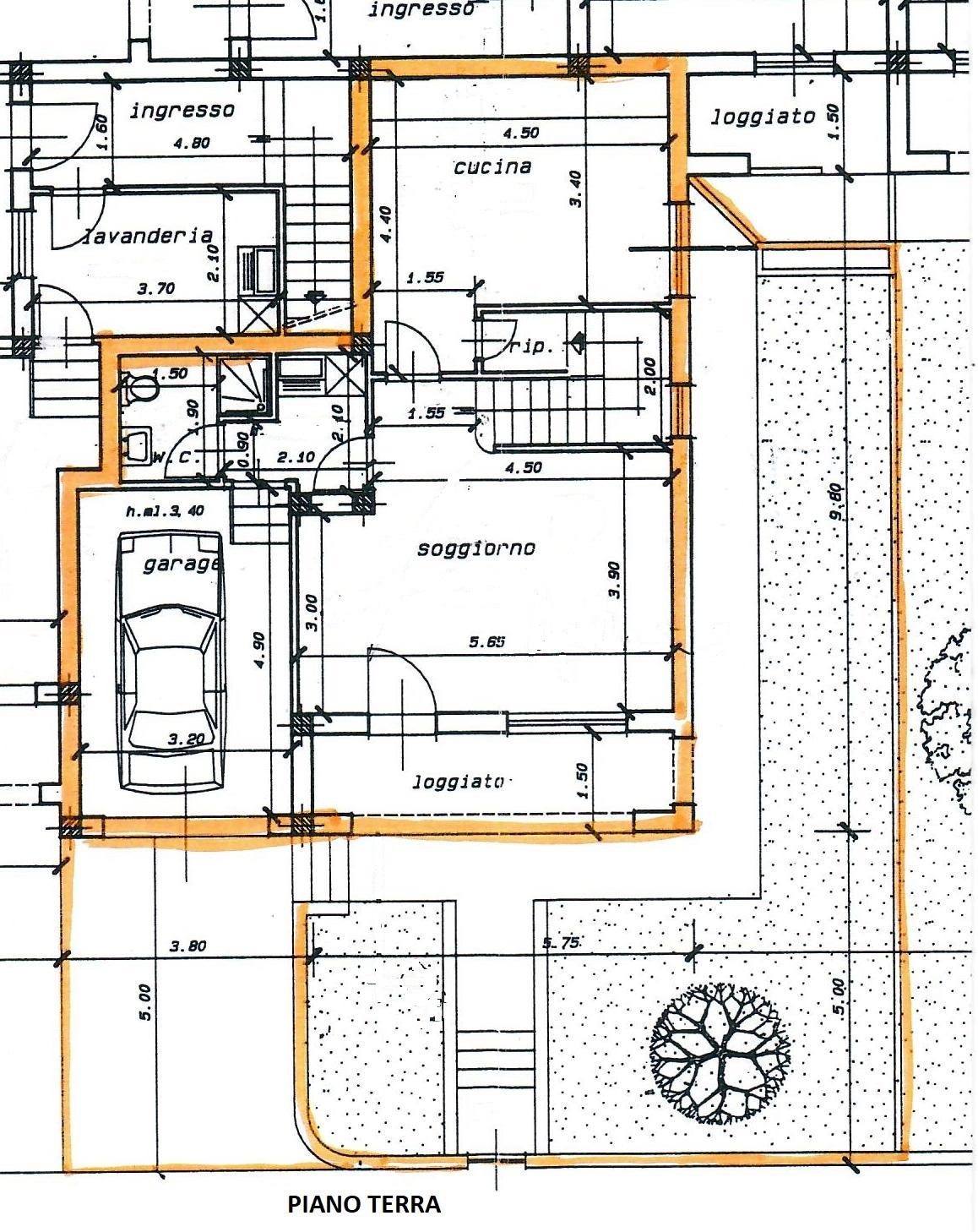 Planimetria 1/3 per rif. 1785