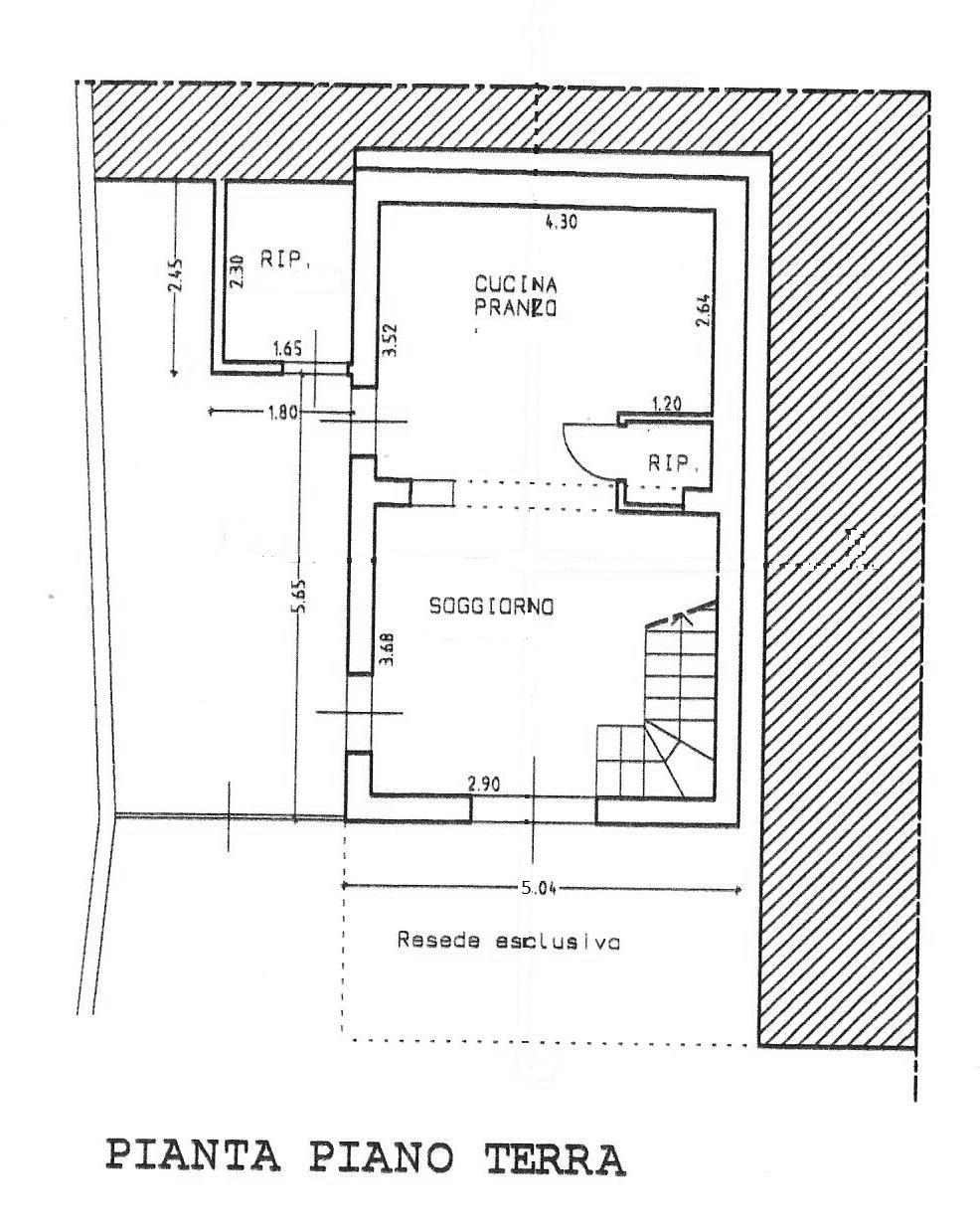Planimetria 1/2 per rif. 1800