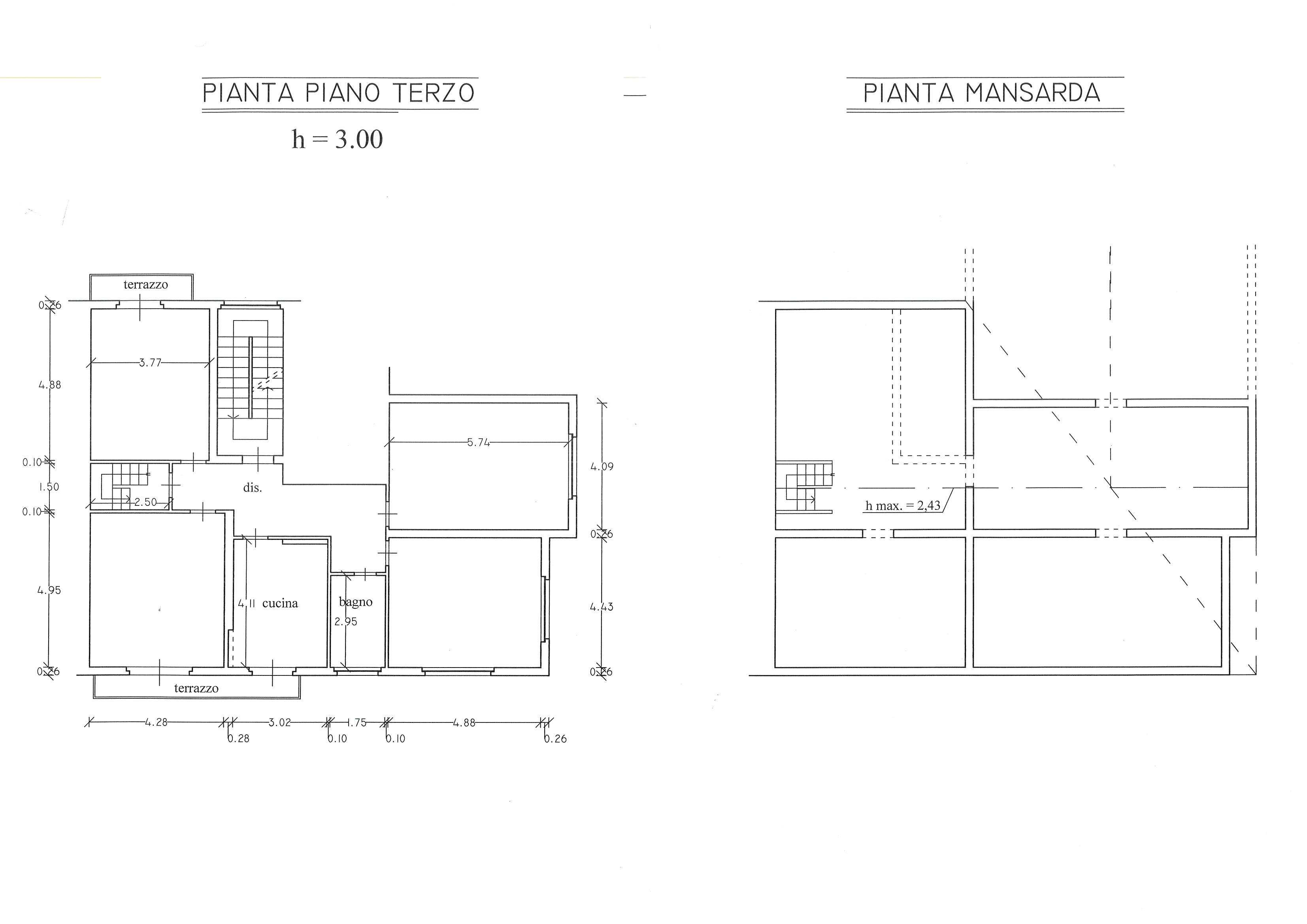 Planimetria 1/1 per rif. 2855