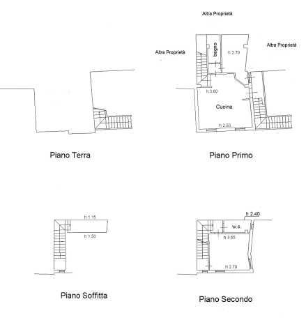 Planimetria /1 per rif. 2173