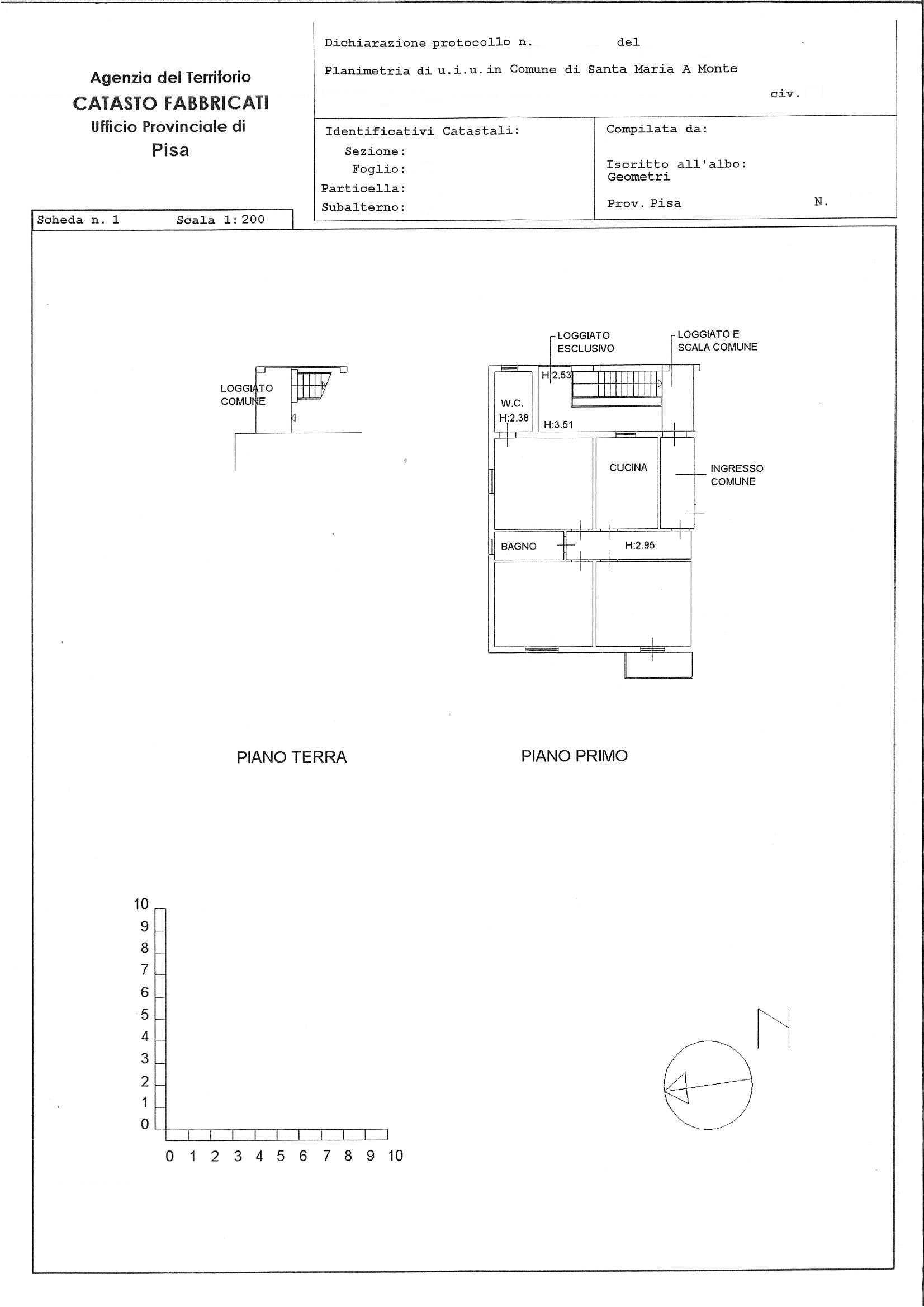 Planimetria 1/1 per rif. 2190