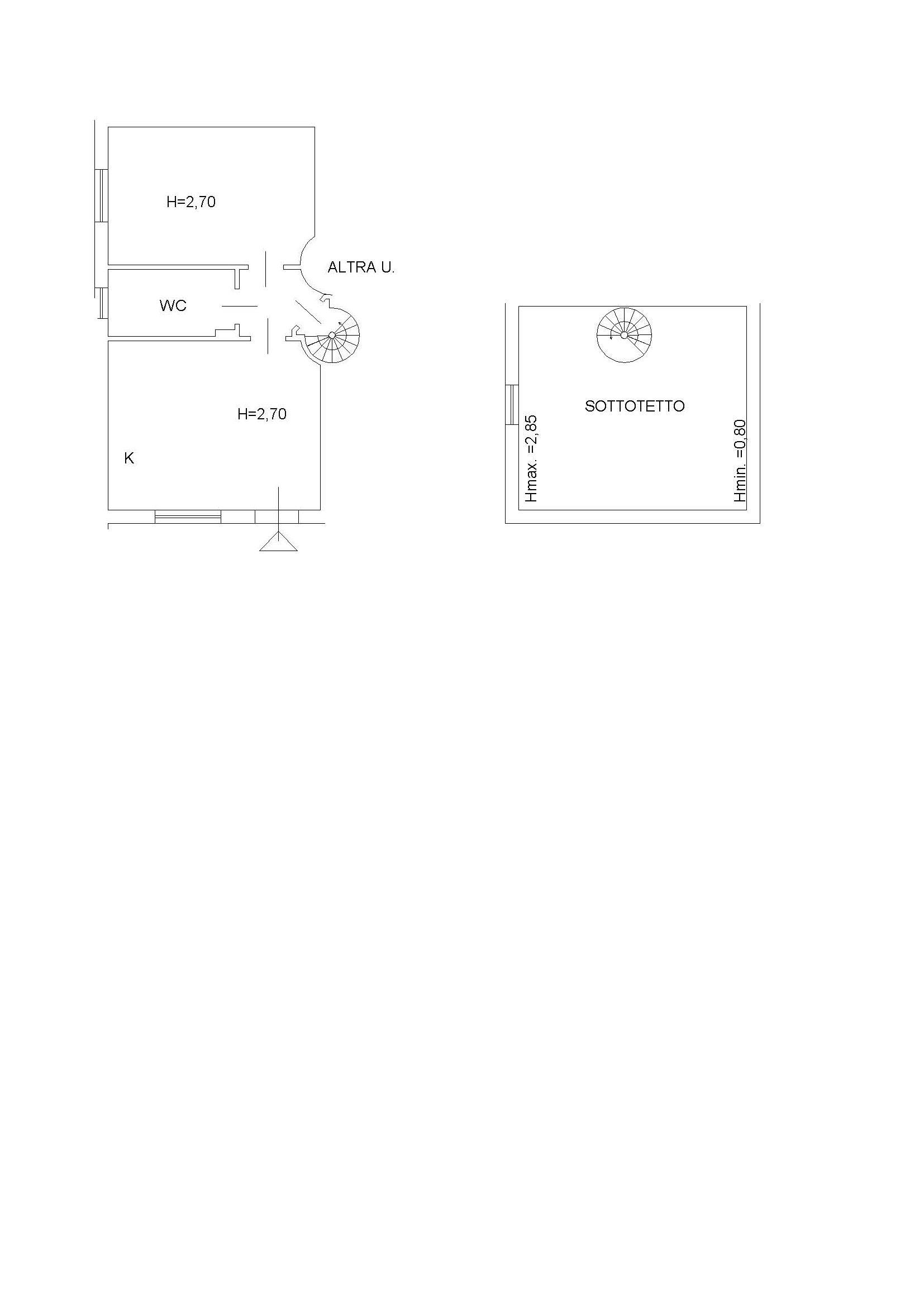 Planimetria /1 per rif. 2243