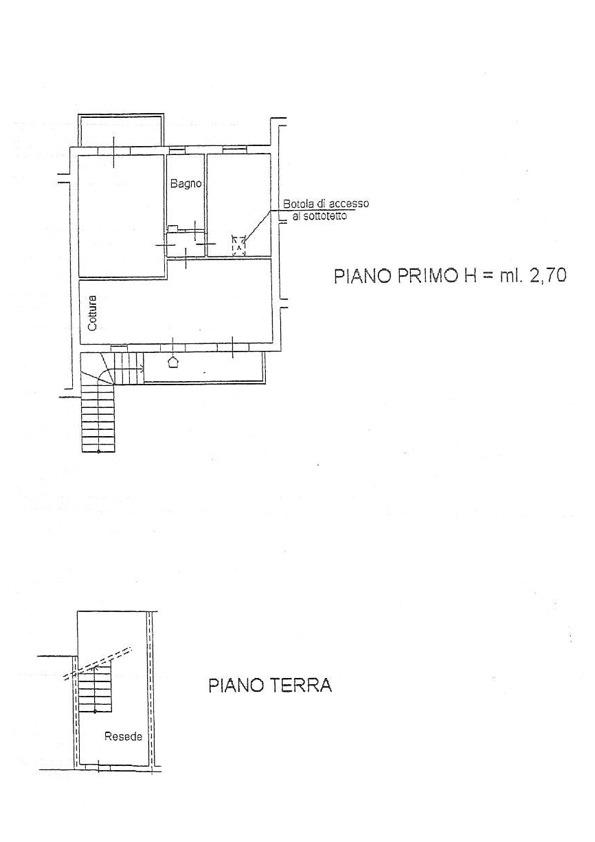 Planimetria 1/2 per rif. 2874