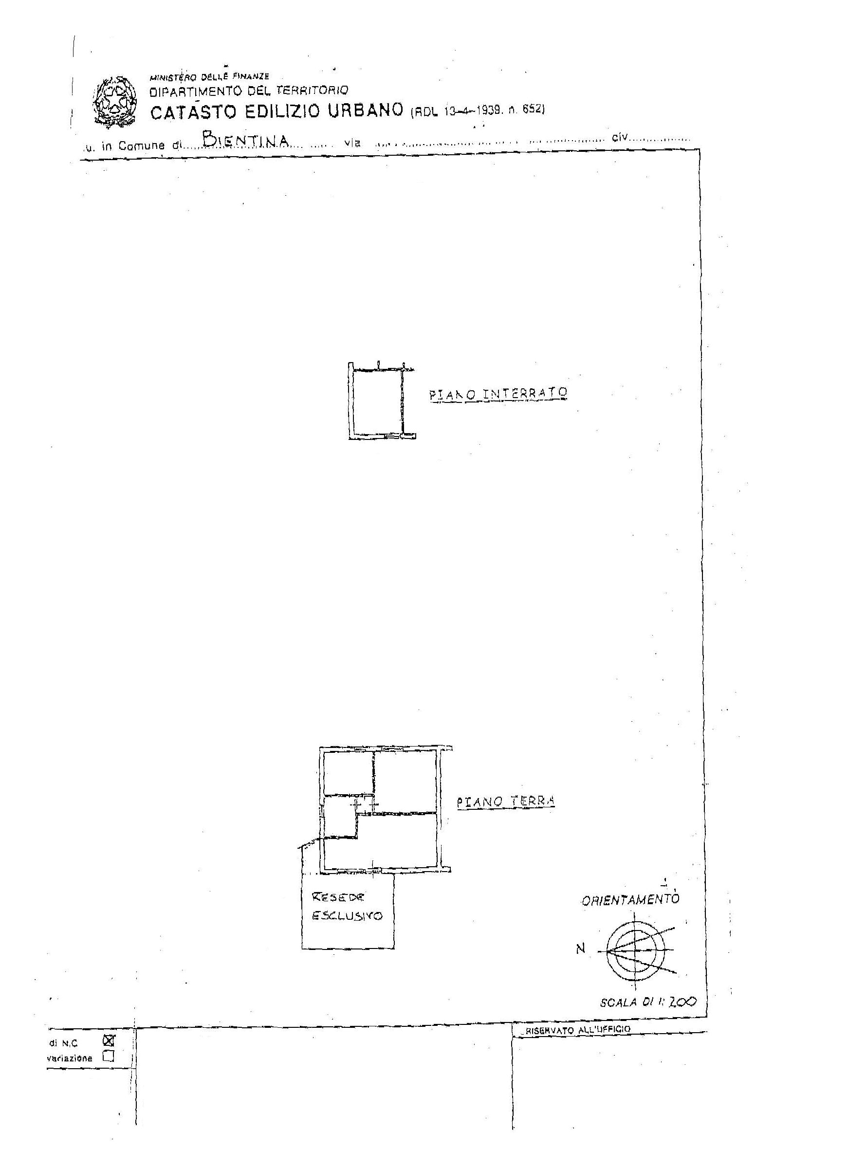 Planimetria /1 per rif. 2316