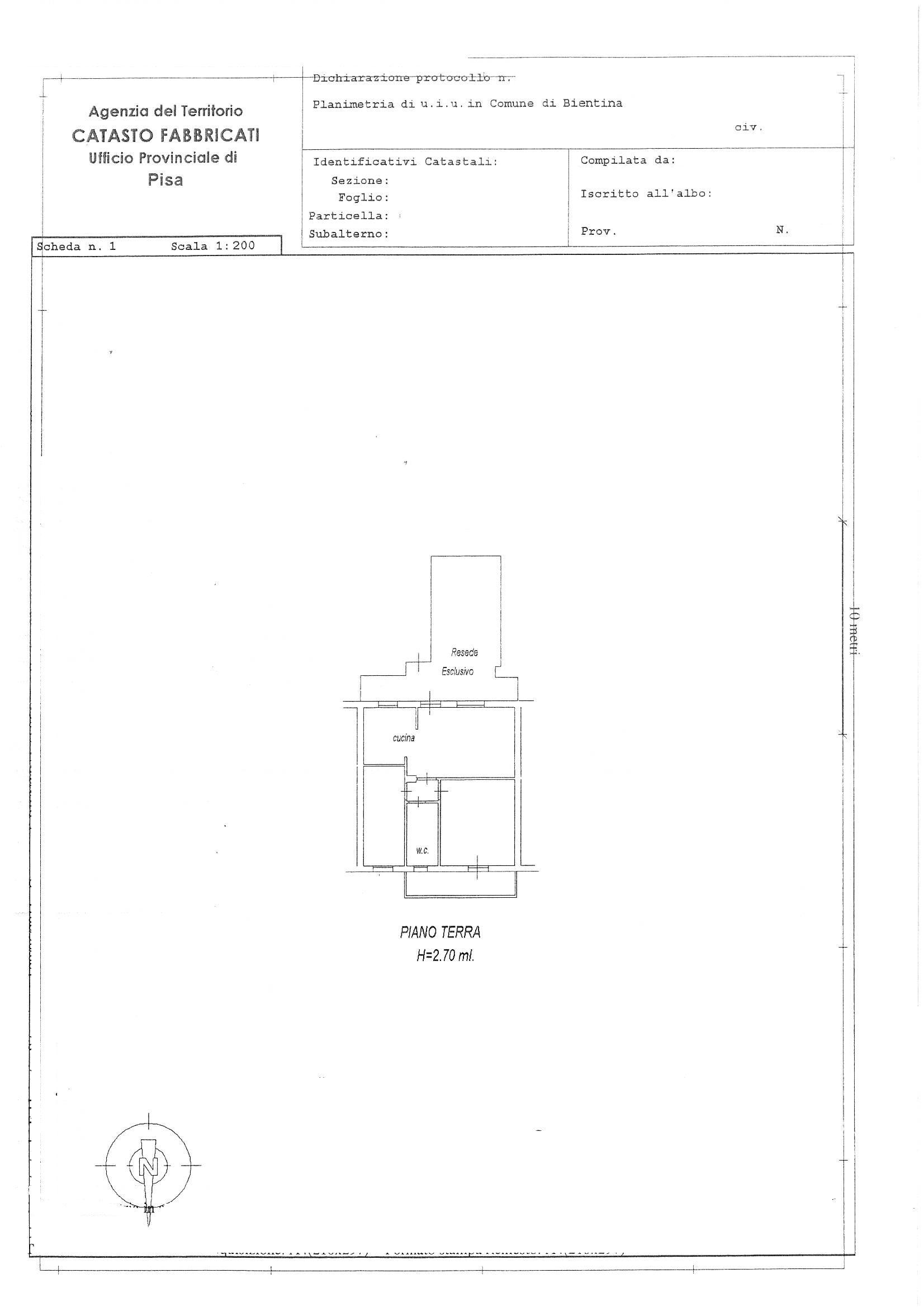 Planimetria /1 per rif. 2492