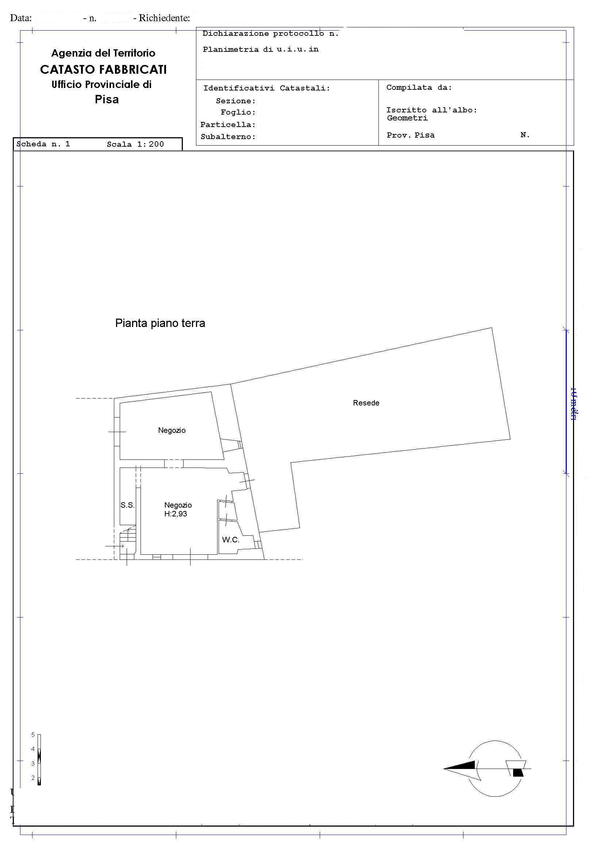 Planimetria /1 per rif. 2601
