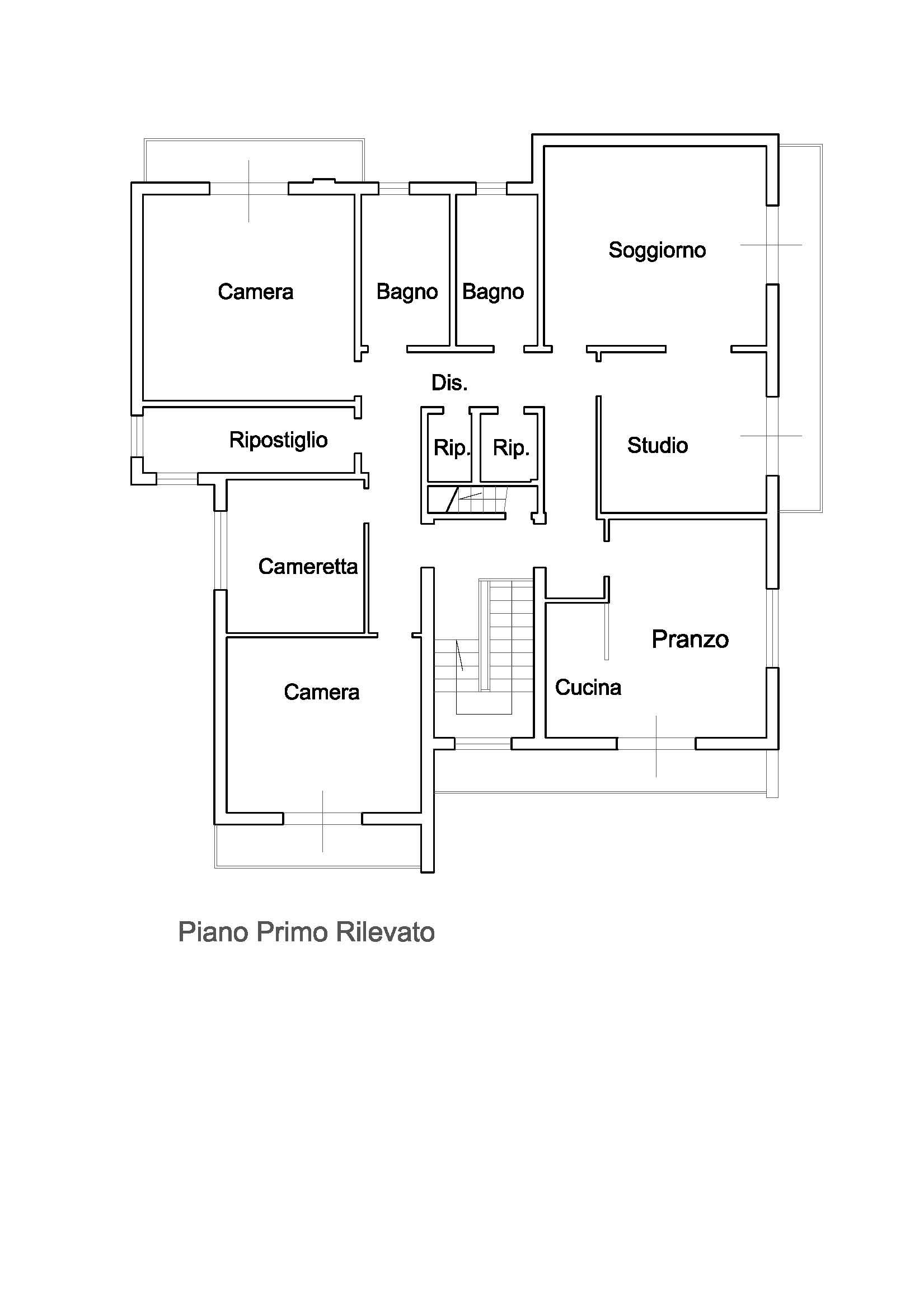Planimetria 3/4 per rif. 2657