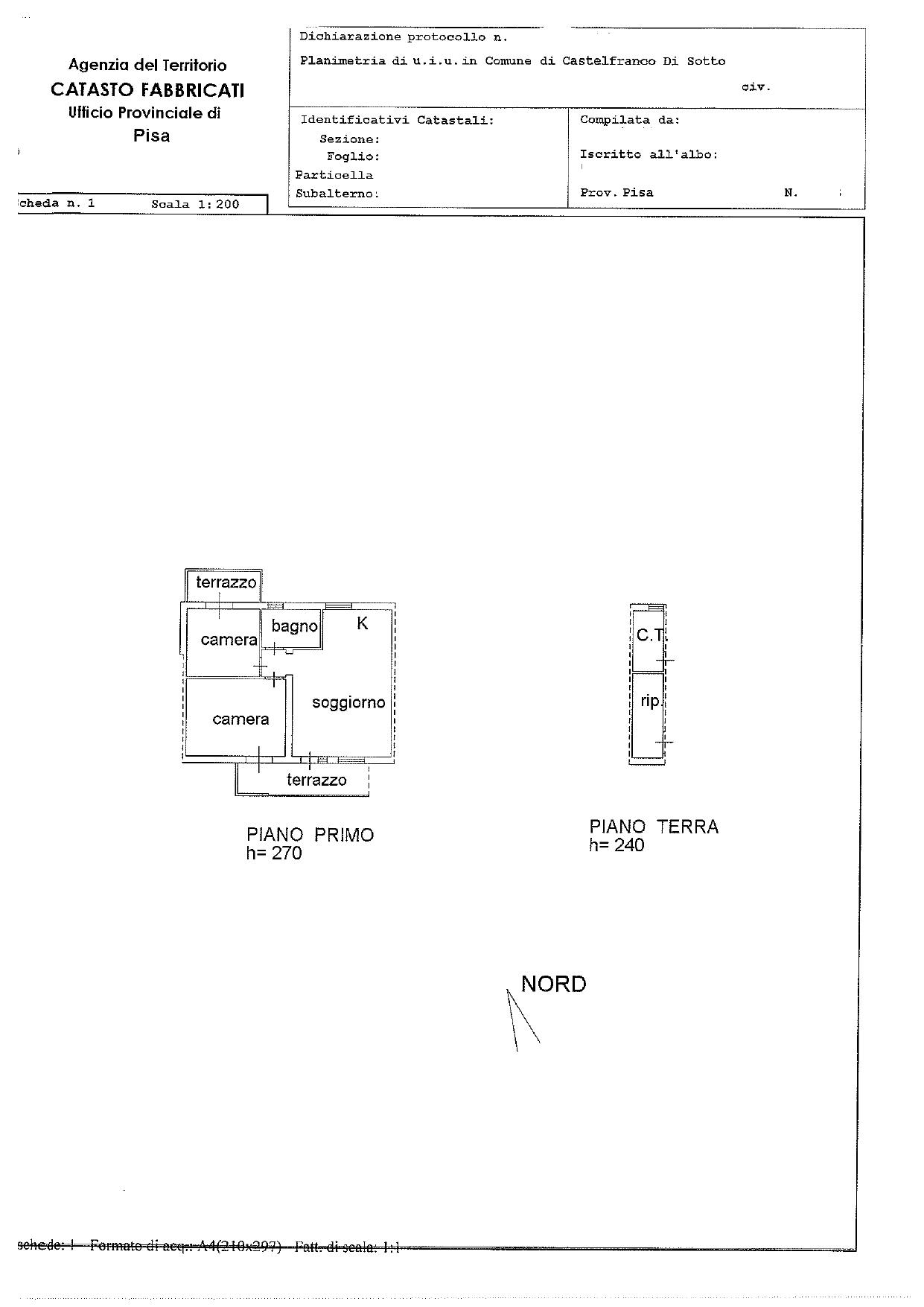 Planimetria 1/1 per rif. 2863
