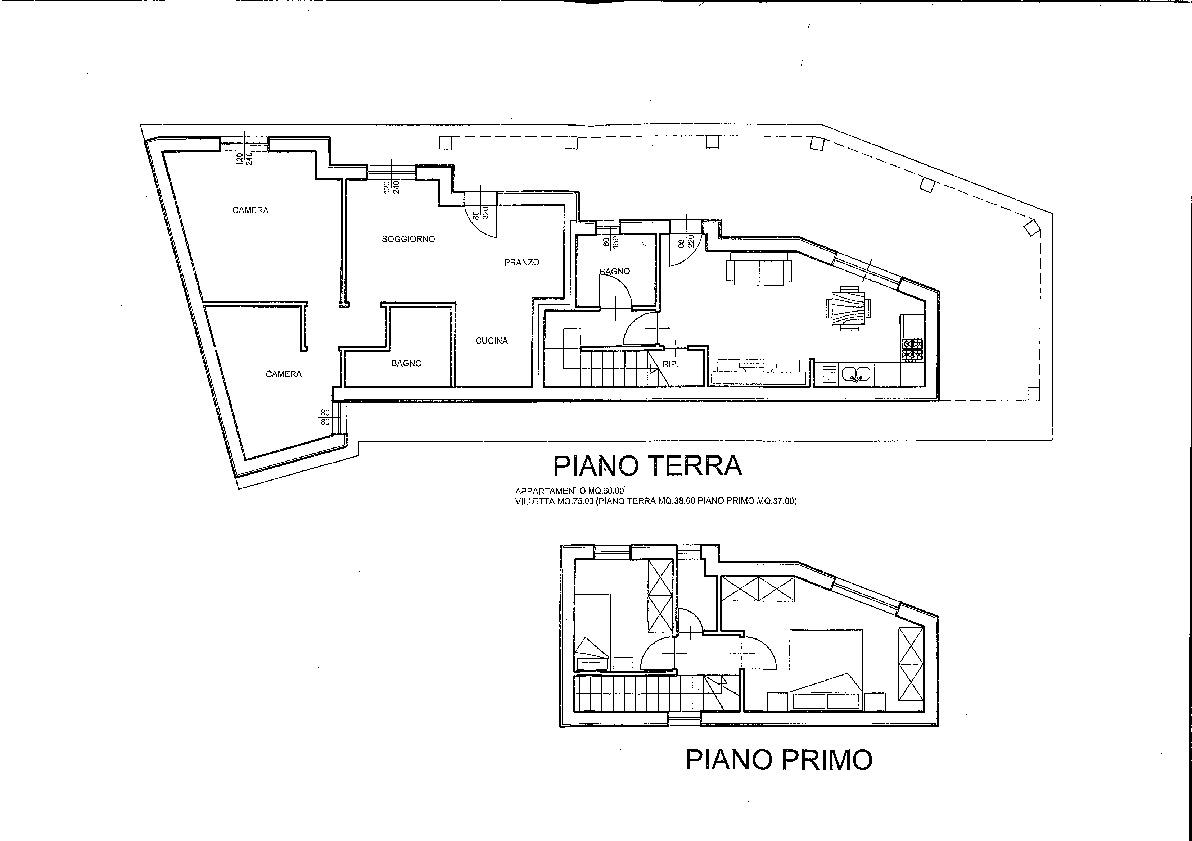 Planimetria 1/2 per rif. 603