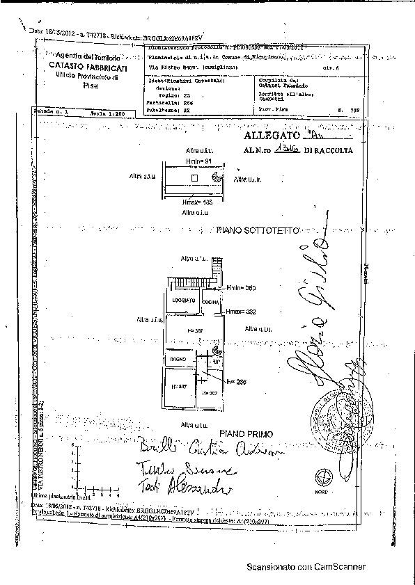 Planimetria 1/1 per rif. 608