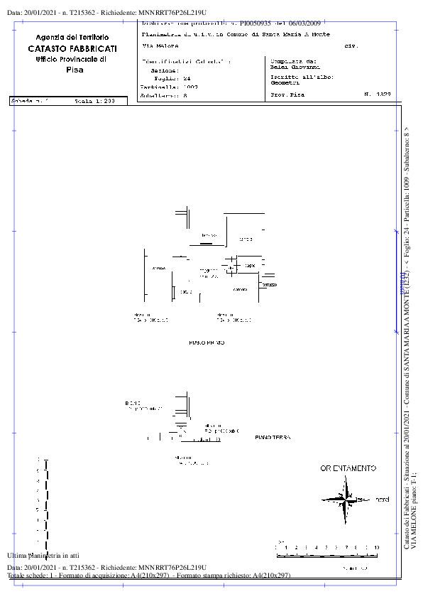 Planimetria 2/2 per rif. 610