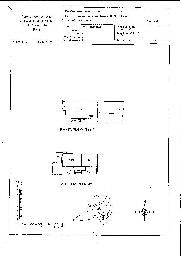 Planimetria 1/2 per rif. 611