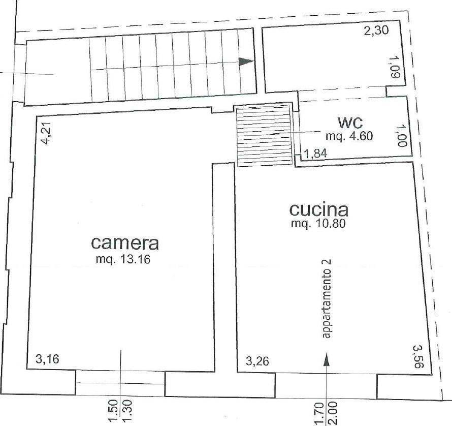 Planimetria 1/2 per rif. 2319