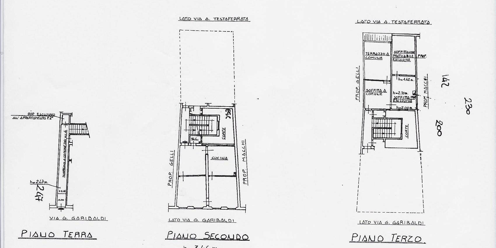 Planimetria 1/1 per rif. 1852