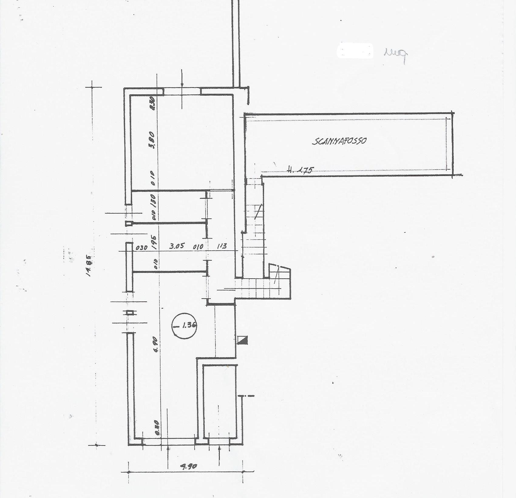 Planimetria 1/3 per rif. 1854