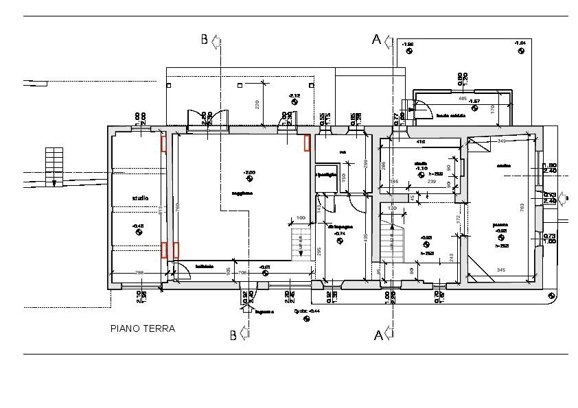 Planimetria 1/3 per rif. 2058