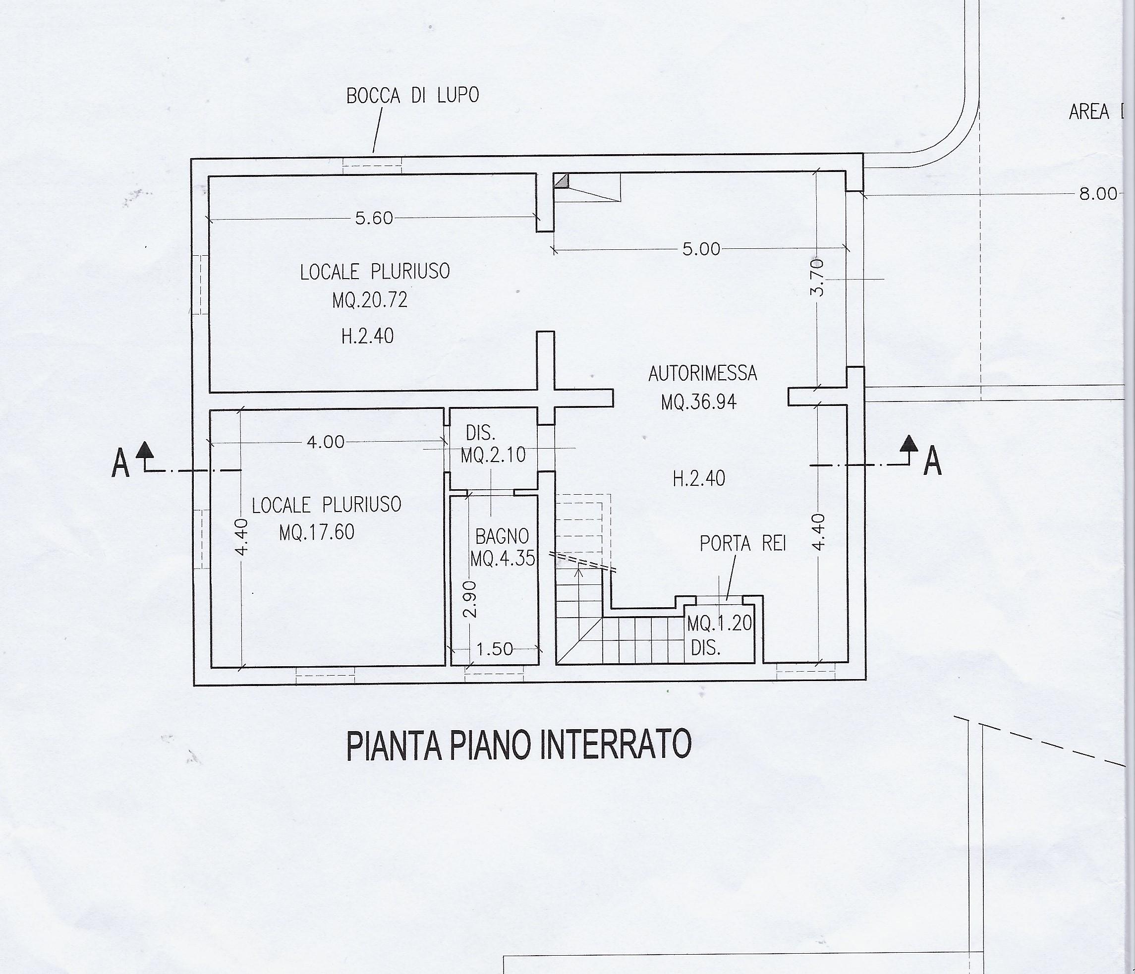 Planimetria 2/2 per rif. 2071